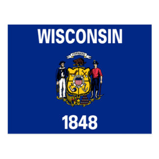 Flag of Wisconsin Post Card
