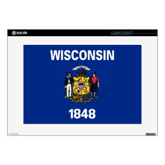 "Flag Of Wisconsin Skin For 15"" Laptop"
