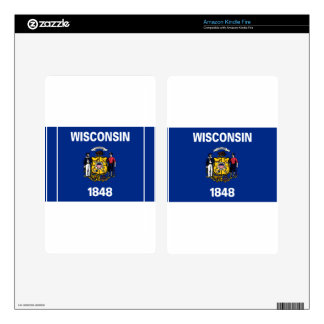 Flag Of Wisconsin Skin For Kindle Fire