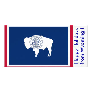 Flag of Wyoming, Happy Holidays from U.S.A. Card