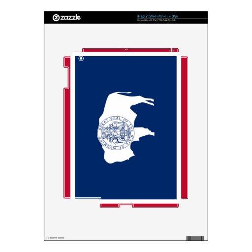 Flag of Wyoming iPad 2 Skin