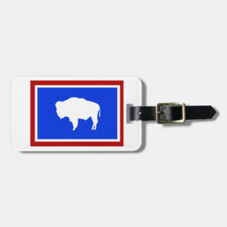 Flag of Wyoming Luggage Tag