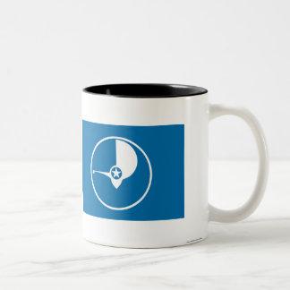 Flag of Yap Two-Tone Coffee Mug