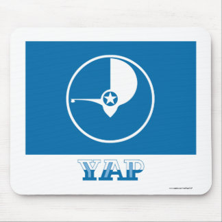 Flag of Yap, with name Mouse Pad