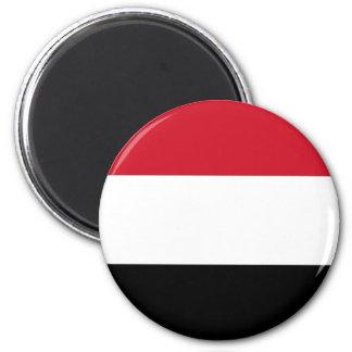 Flag of Yemen 2 Inch Round Magnet