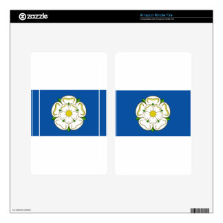 Flag of Yorkshire Skin For Kindle Fire