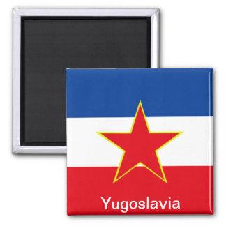 Flag of Yugoslavia 2 Inch Square Magnet