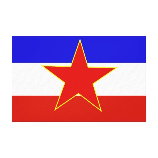 Flag of Yugoslavia Canvas Print