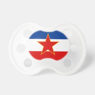 Flag of Yugoslavia Pacifier