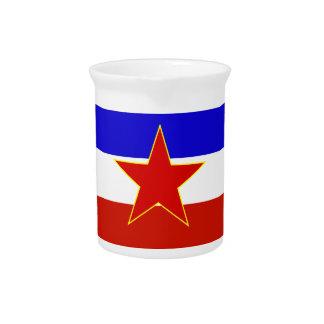 Flag of Yugoslavia Beverage Pitchers