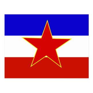 Flag of Yugoslavia Postcard