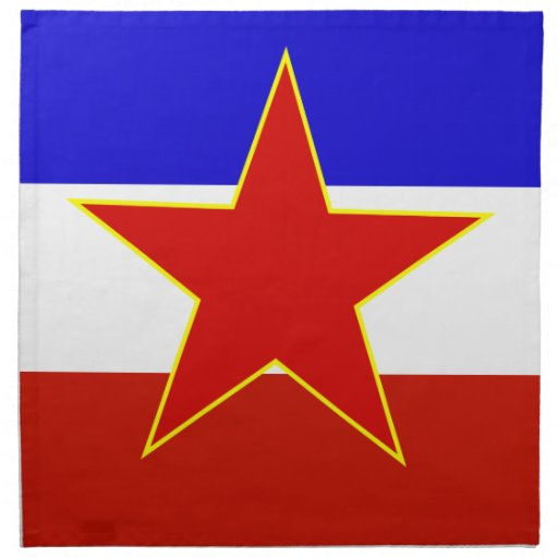 Flag of Yugoslavia Printed Napkins