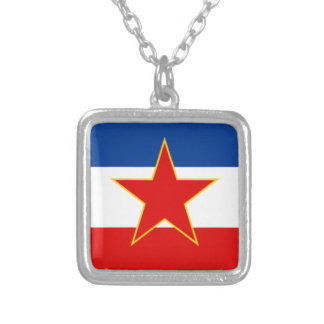 Flag of Yugoslavia Silver Plated Necklace