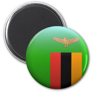Flag of Zambia 2 Inch Round Magnet