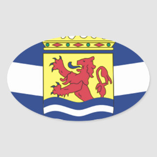 Flag of Zeeland Oval Sticker