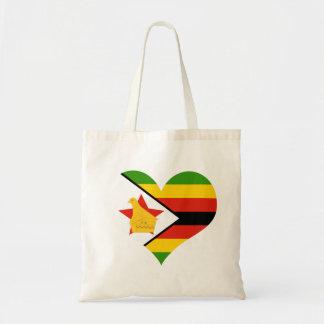 Flag of Zimbabwe Africa Tote Bag