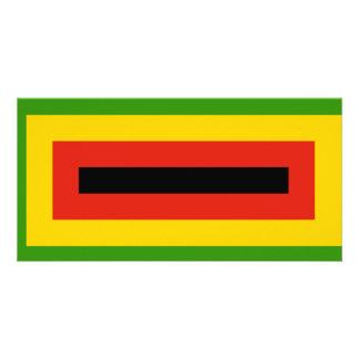 Flag of Zimbabwe African National Union Card