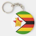 Flag of Zimbabwe Key Chains