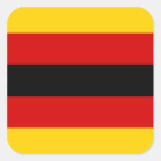 Flag_of_Zimbabwe Pegatina Cuadrada