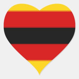 Flag_of_Zimbabwe Pegatina En Forma De Corazón