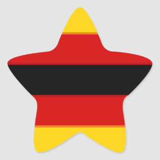 Flag_of_Zimbabwe Pegatina En Forma De Estrella