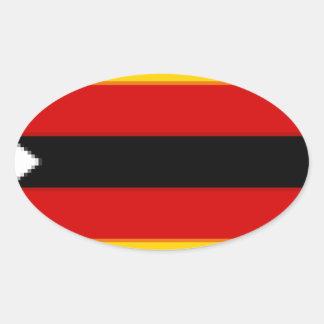 Flag_of_Zimbabwe Pegatina Ovalada