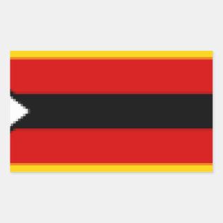 Flag_of_Zimbabwe Pegatina Rectangular