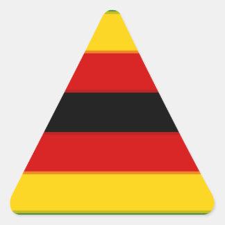 Flag_of_Zimbabwe Pegatina Triangular
