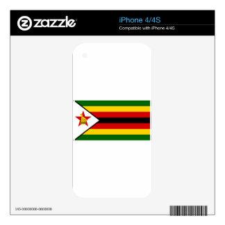 Flag of Zimbabwe - Zimbabwean - Mureza weZimbabwe iPhone 4 Skin