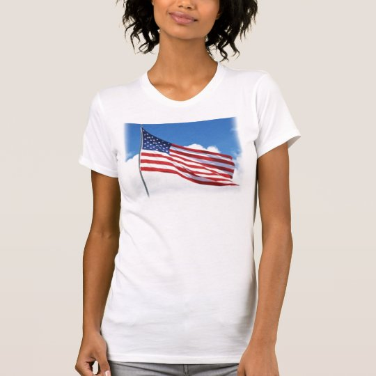Flag on a tank top