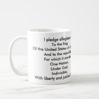 Flag on blue sky, I pledge allegianceTo the fla... Coffee Mug