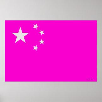 Flag Optical Illusion - China Poster