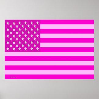 Flag Optical Illusion - USA Poster