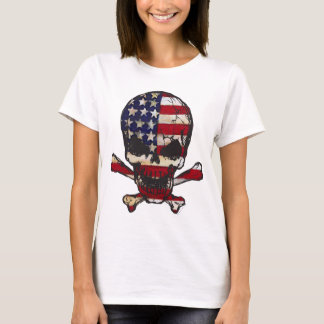 Flag-painted-Skull.png T-Shirt