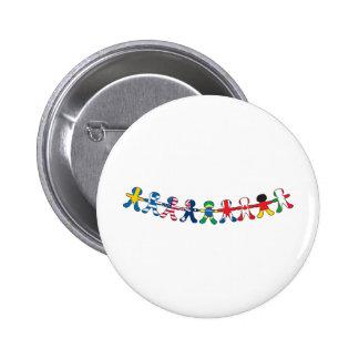 Flag Paper Dolls Pinback Button