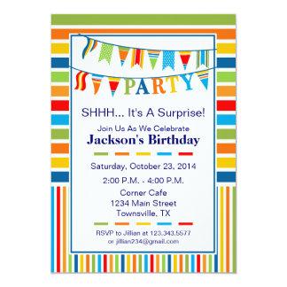 Flag Party Invitation