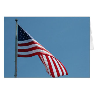 Flag!  Patriotic colors! Card