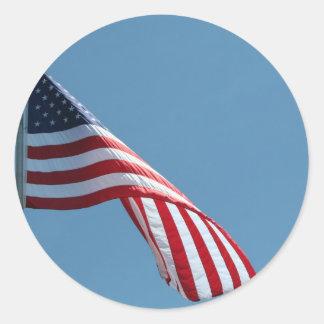 Flag!  Patriotic colors! Classic Round Sticker