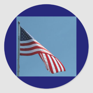 Flag!  Patriotic colors! Classic Round Sticker