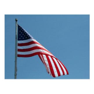 Flag!  Patriotic colors! Postcard