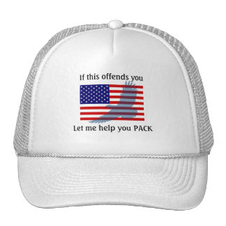 Flag & Patriotic Eagle - 4th of July Trucker Hat