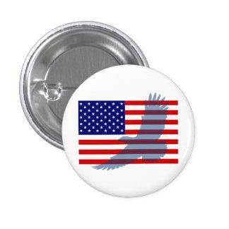 Flag & Patriotic Eagle Pinback Button