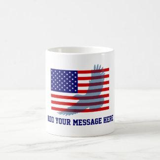 Flag & Patriotic Eagle Coffee Mug