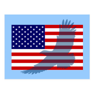 Flag Patriotic Eagle Post Cards