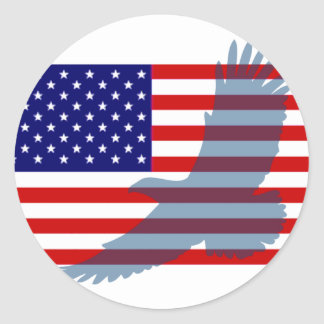 Flag & Patriotic Eagle Stickers