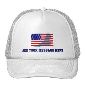 Flag & Patriotic Eagle Trucker Hat