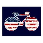 flag patriotic United States of America bicycle Postcard