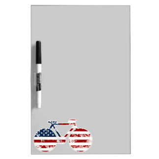 flag patriotic United States of America biking Dry-Erase Board