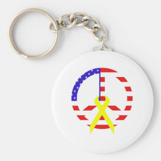 Flag Peace Keychain