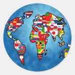 Flag Planet Classic Round Sticker